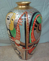 Ceramic vase, after repair by Home Enhancements.
