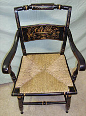 Hitchcock chair, after repair by Home Enhancements.