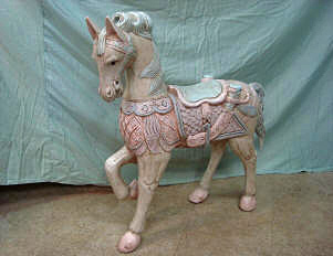 Finished wooden pony, after repair by Home Enhancements.