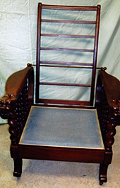 Ornate arm chair, after repair by Home Enhancements.