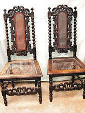 Ornate chairs, before repair by Home Enhancements.