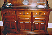 Pine sideboard, after repair by Home Enhancements.