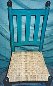 Porch chair, after repair by Home Enhancements.