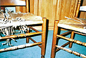 Chairs, before repair by Home Enhancements.